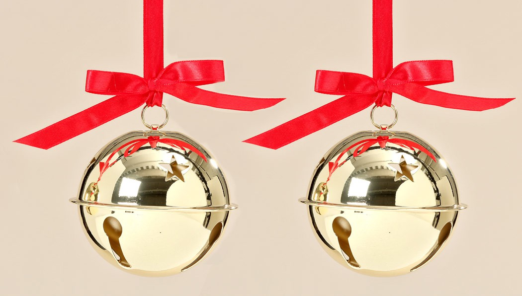 deko h nger gl ckchen mit band geschenkanh nger weihnachtsdeko gold 2er set ebay. Black Bedroom Furniture Sets. Home Design Ideas