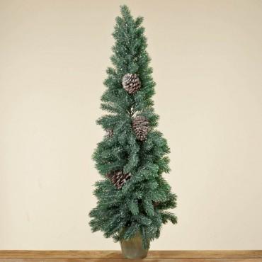 tannenbaum mit zapfen weihnachtsbaum kunststoff christbaum. Black Bedroom Furniture Sets. Home Design Ideas