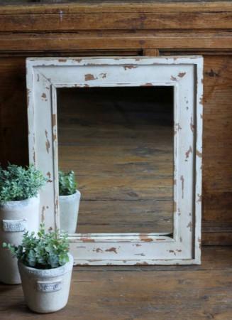 spiegel shabby chic vintage antik wandspiegel wei 50x40. Black Bedroom Furniture Sets. Home Design Ideas