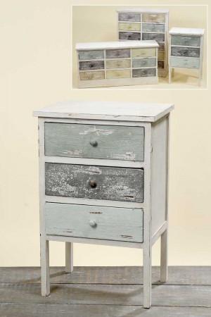 kommode tammo mit 3 schubladen holz schrank shabby landhaus antike optik h74. Black Bedroom Furniture Sets. Home Design Ideas