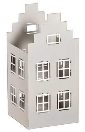 metall windlicht haus offen in grau wei lichthaus teelichthalter weihnachtsdeko ebay. Black Bedroom Furniture Sets. Home Design Ideas
