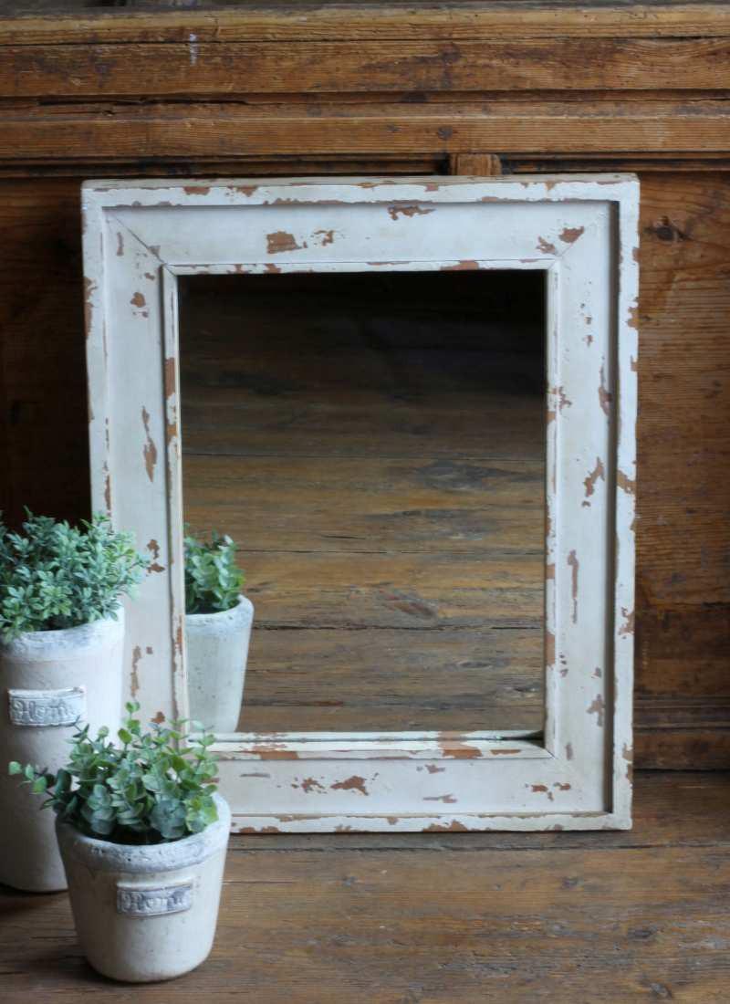 Spiegel shabby chic vintage antik 50x40 landhaus for Spiegel 80 x 40