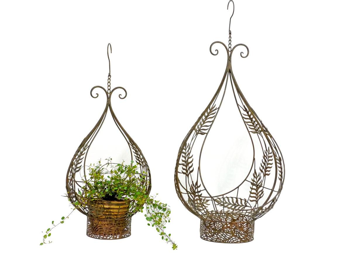 Nostalgie Blumenampel Metall Korb Hängekorb Pflanzen Blumenkorb ... Blumenampel Selber Machen Hangekorb