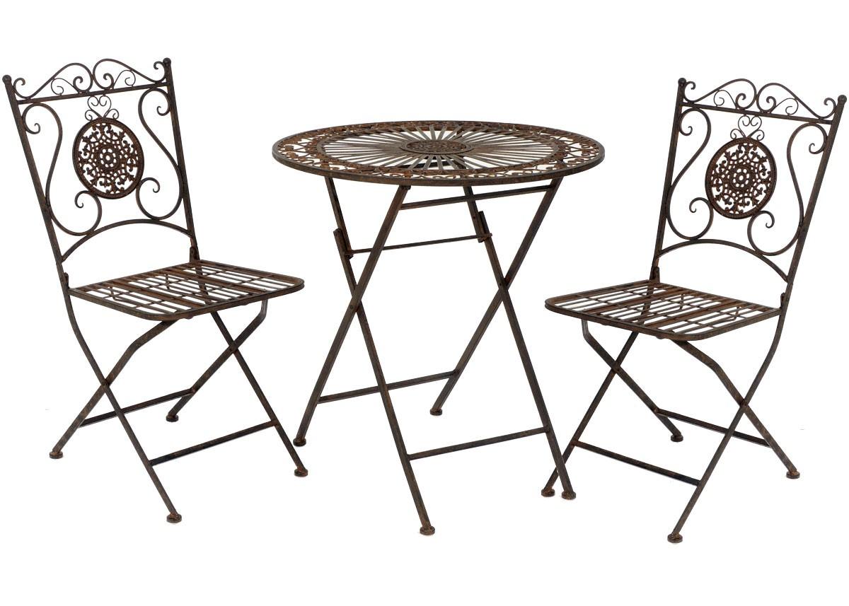 nostalgie landhaus sitzgarnitur metall 1 tisch 2 st hle. Black Bedroom Furniture Sets. Home Design Ideas
