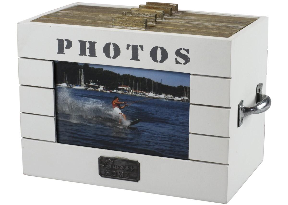 fotobox home aufbewahrungsbox aus holz f r fotos mit. Black Bedroom Furniture Sets. Home Design Ideas