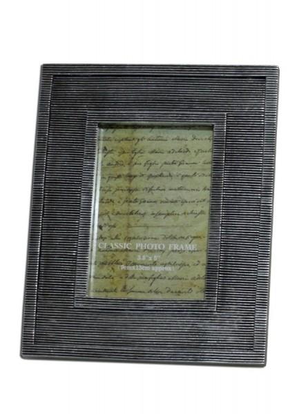 Bilderrahmen Holz Geriffelt ~ Bilderrahmen silber geriffelt Fotorahmen – Bild 1