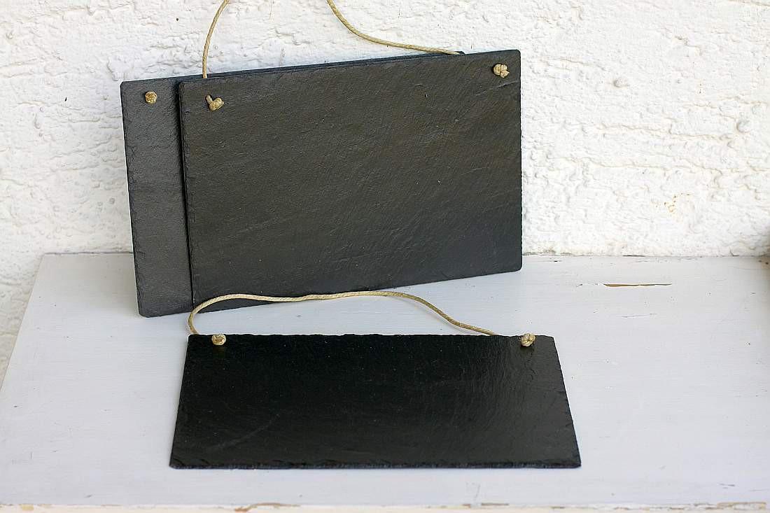 schiefertafel mit kordel zum selber beschriften 20x30 wandbild schild 3er set. Black Bedroom Furniture Sets. Home Design Ideas