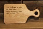 graviertes Jausenbrett - Holz Gravur branding 001