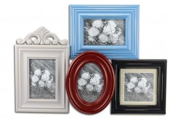 bilderrahmen quadro collage shabby vintage fotorahmen 4 f rbig. Black Bedroom Furniture Sets. Home Design Ideas