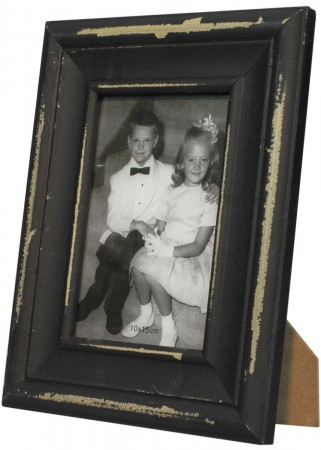 shabby holz bilderrahmen stern fotorahmen weiss grau h 20cm 2er set. Black Bedroom Furniture Sets. Home Design Ideas