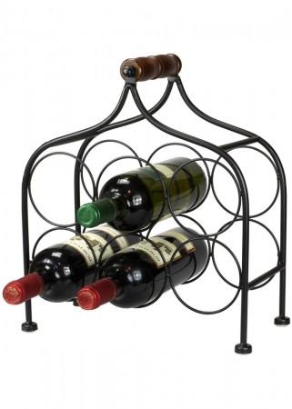 flaschentr ger bottles weinkiste aus holz flaschenhalter landhaus wei. Black Bedroom Furniture Sets. Home Design Ideas