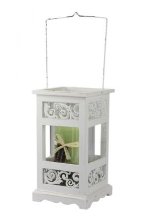 laterne patria holzlaterne wei metall ornament landhaus. Black Bedroom Furniture Sets. Home Design Ideas