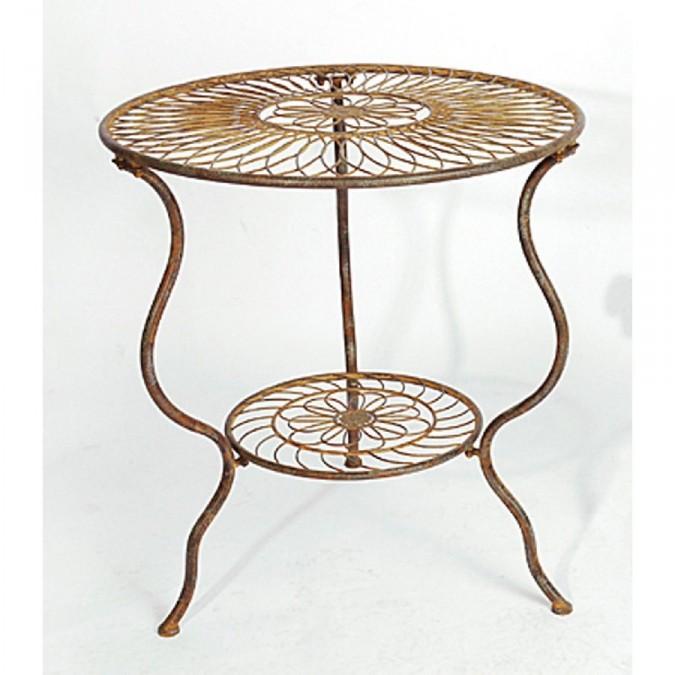 Gartentisch Holz Metall Rund ~ Tisch  Birdy  Gartentisch Metall Rund