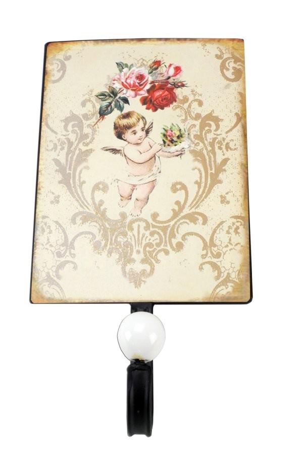 nostalgie wandhaken rosen engel garderobenhaken haken. Black Bedroom Furniture Sets. Home Design Ideas