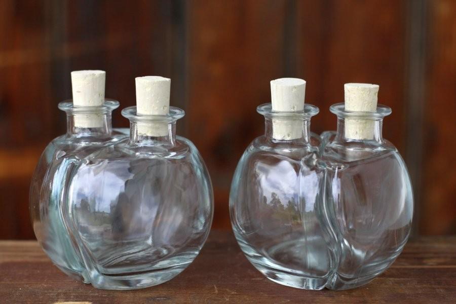 Glasflasche Ying Amp Yang Mit Korken 200ml 2sets 4teilig