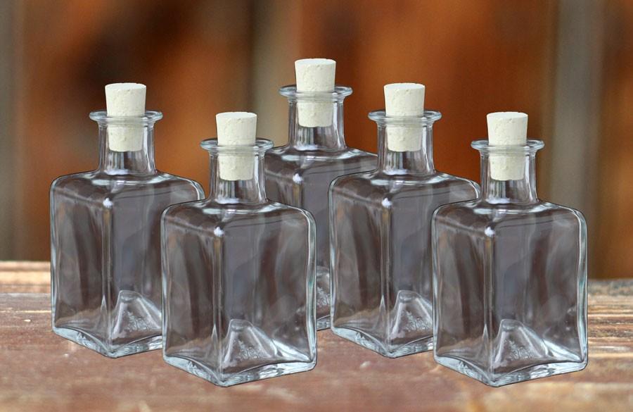 glasflasche picasso mit korken 200ml 5 st ck. Black Bedroom Furniture Sets. Home Design Ideas