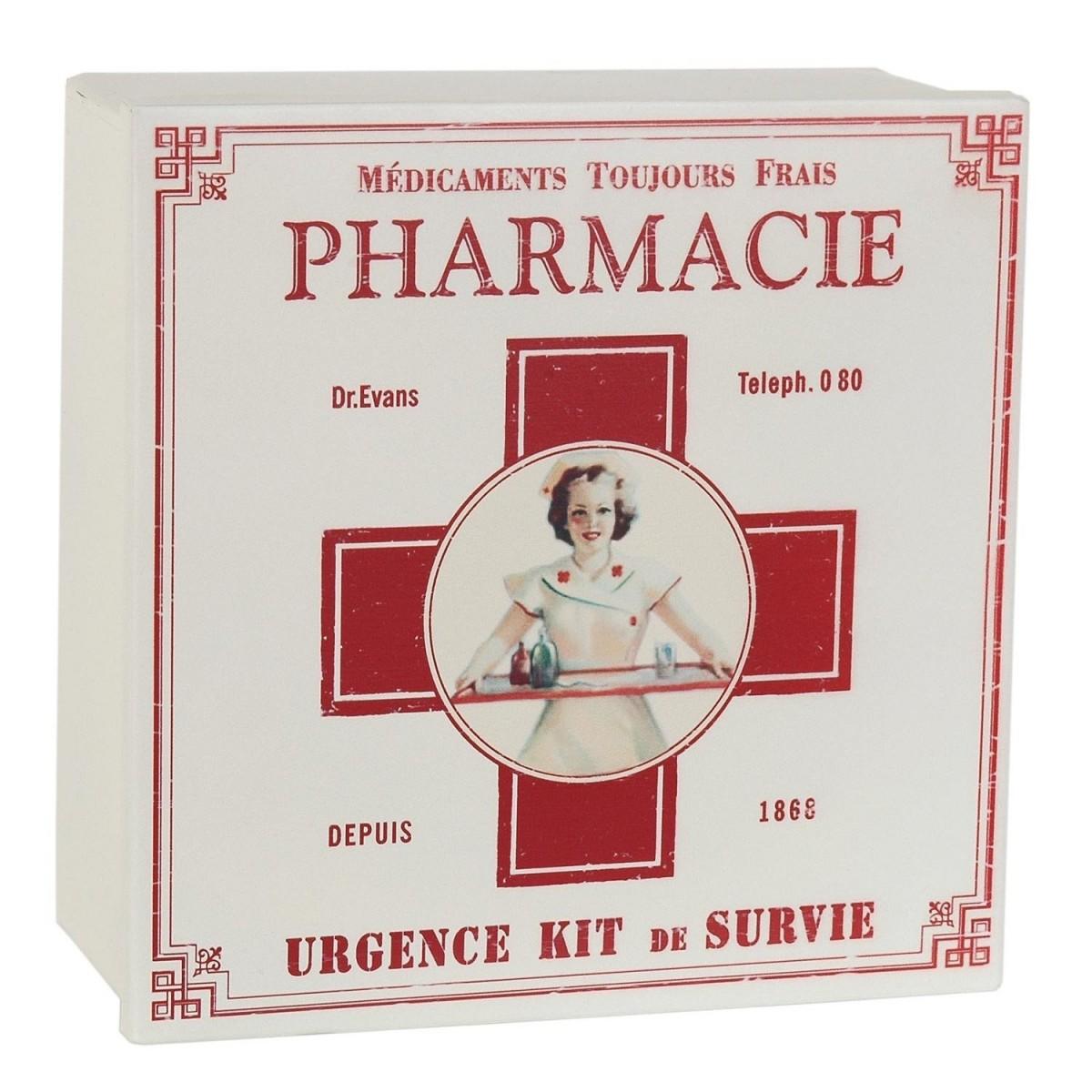 erste hilfe box pharmacie vintage retro blechdose metalldose von clayre eef. Black Bedroom Furniture Sets. Home Design Ideas