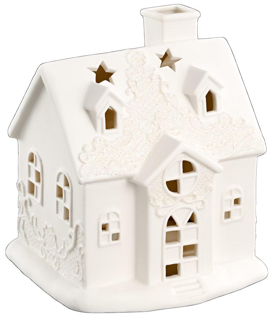 lichthaus porzellan windlicht haus wei h he 16cm. Black Bedroom Furniture Sets. Home Design Ideas