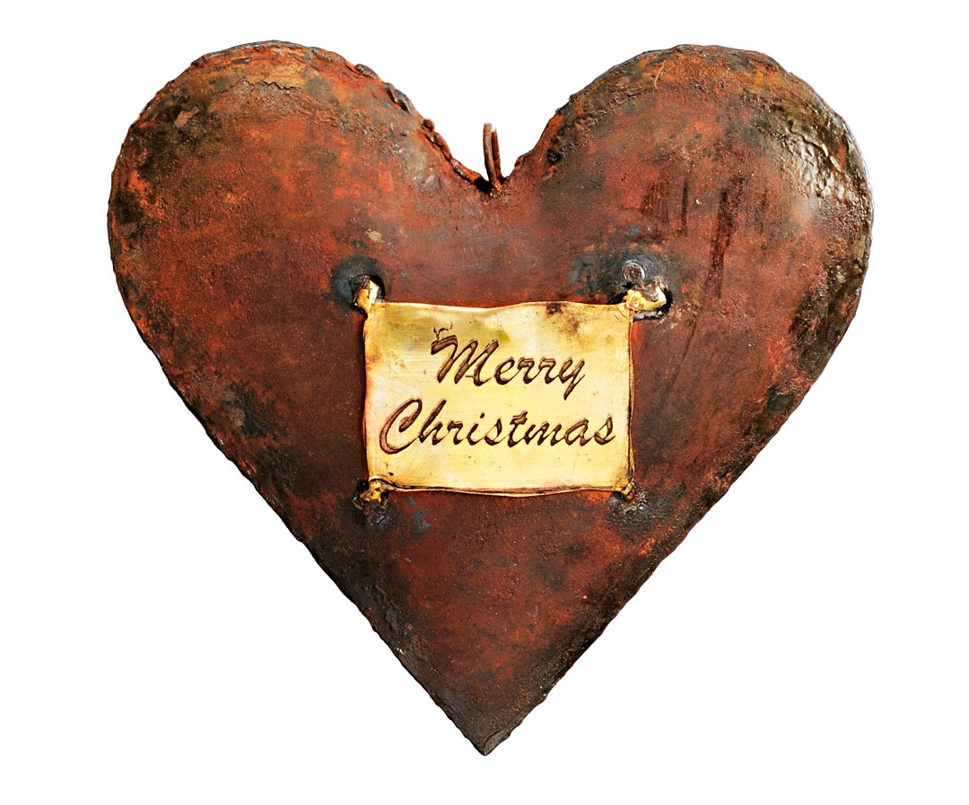 Fensterh nger herz merry christmas metall h nger rost optik for Deko herz rost