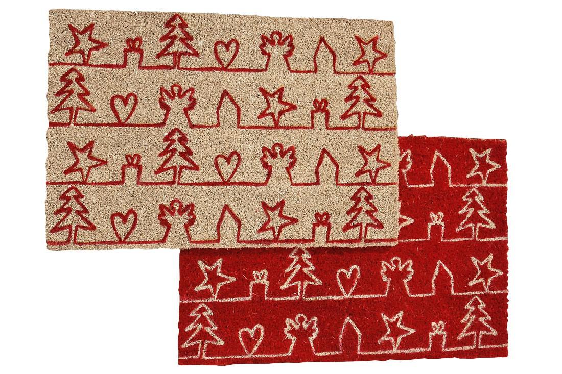 Weihnachtliche fu matte stern herz engel shabby landhaus for Weihnachtliche gartendekoration
