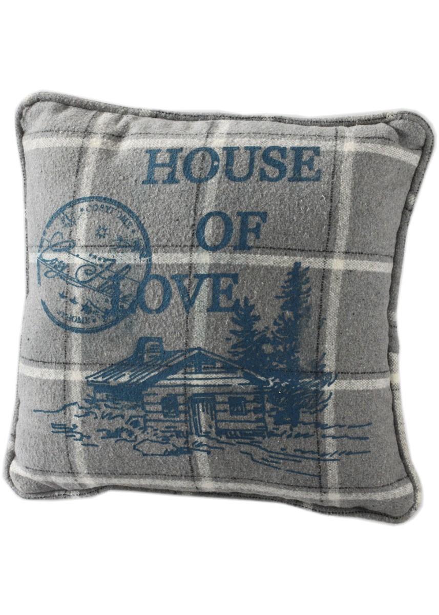 kissen house of love kissenh lle landhaus dekokissen kariert grau blau. Black Bedroom Furniture Sets. Home Design Ideas