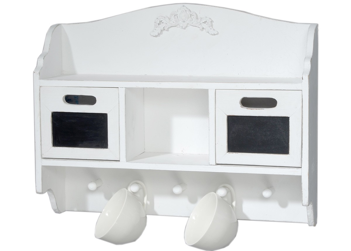 wandregal wei landhaus. Black Bedroom Furniture Sets. Home Design Ideas