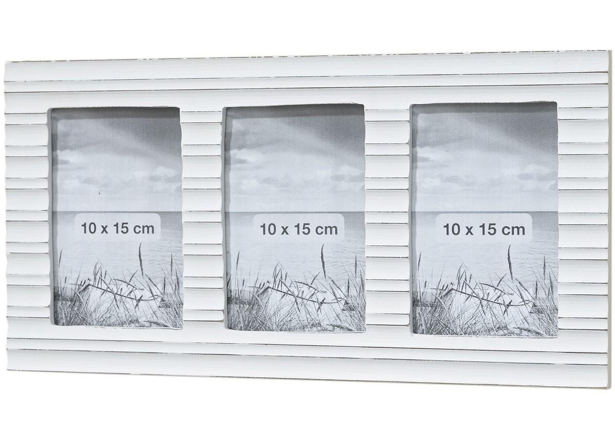 bilderrahmen eri galerierahmen f r 3 10x15 bilder shabby landhaus wei. Black Bedroom Furniture Sets. Home Design Ideas