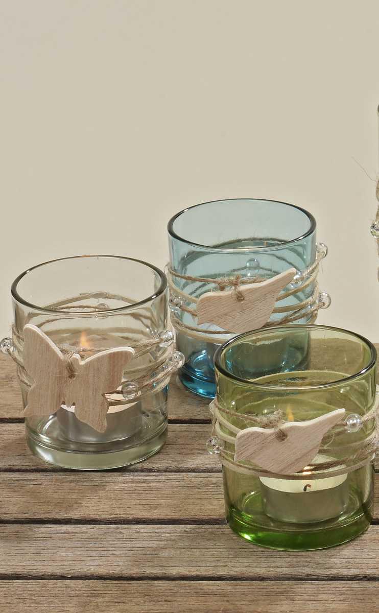 glas windlicht leeds teelichthalter mit holzh nger 3er set h he 8cm. Black Bedroom Furniture Sets. Home Design Ideas