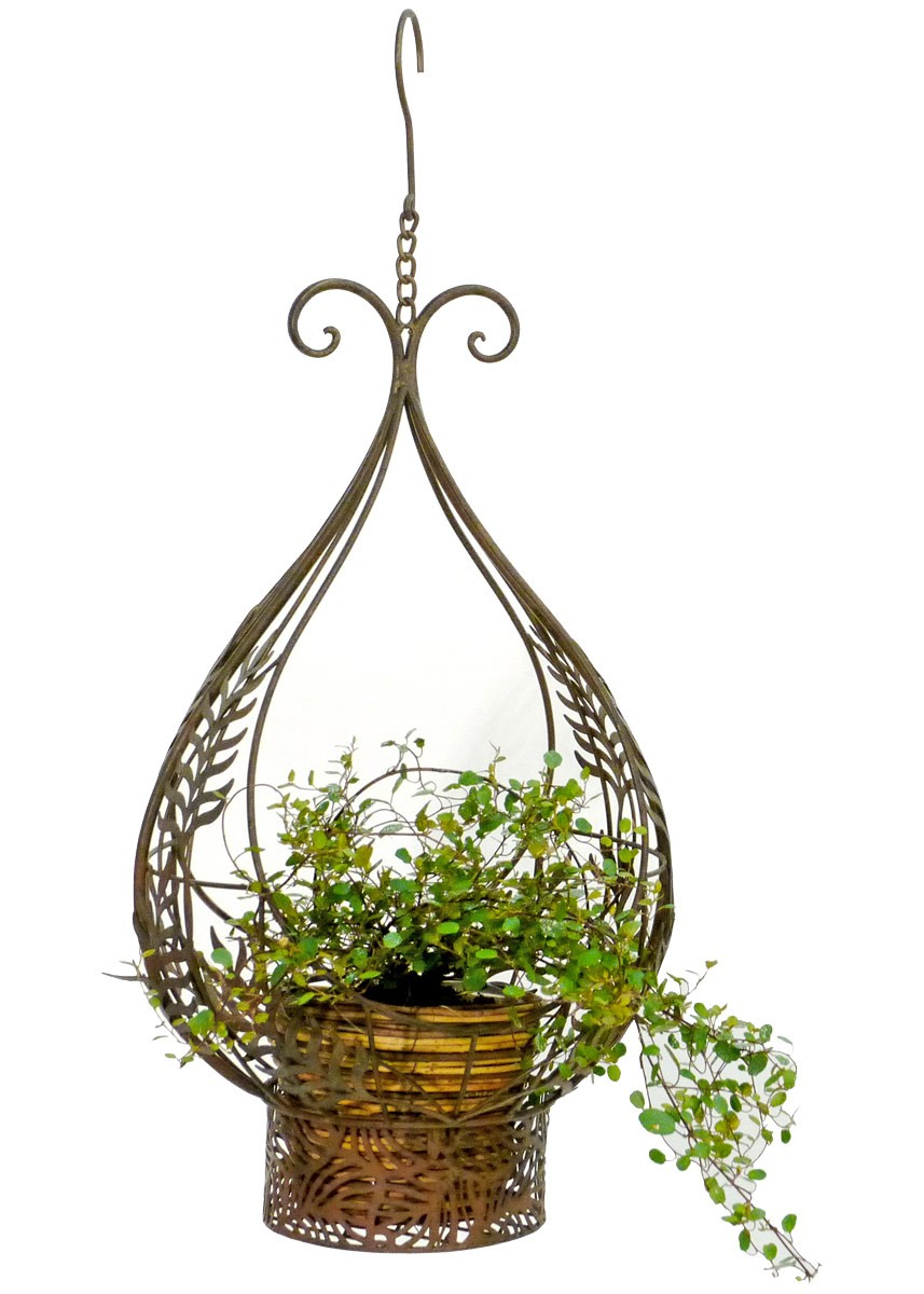 nostalgie blumenampel metall korb h ngekorb pflanzen blumenkorb antik. Black Bedroom Furniture Sets. Home Design Ideas