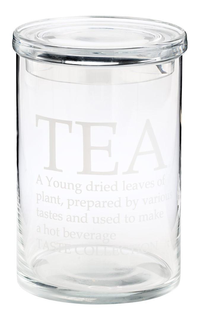 glasdose tea mit deckel shabby landhaus aufbewahrungsglas. Black Bedroom Furniture Sets. Home Design Ideas