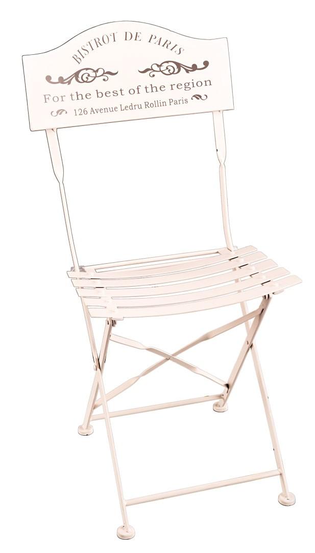 nostalgie klappstuhl bistro de paris shabby landhaus stuhl creme. Black Bedroom Furniture Sets. Home Design Ideas