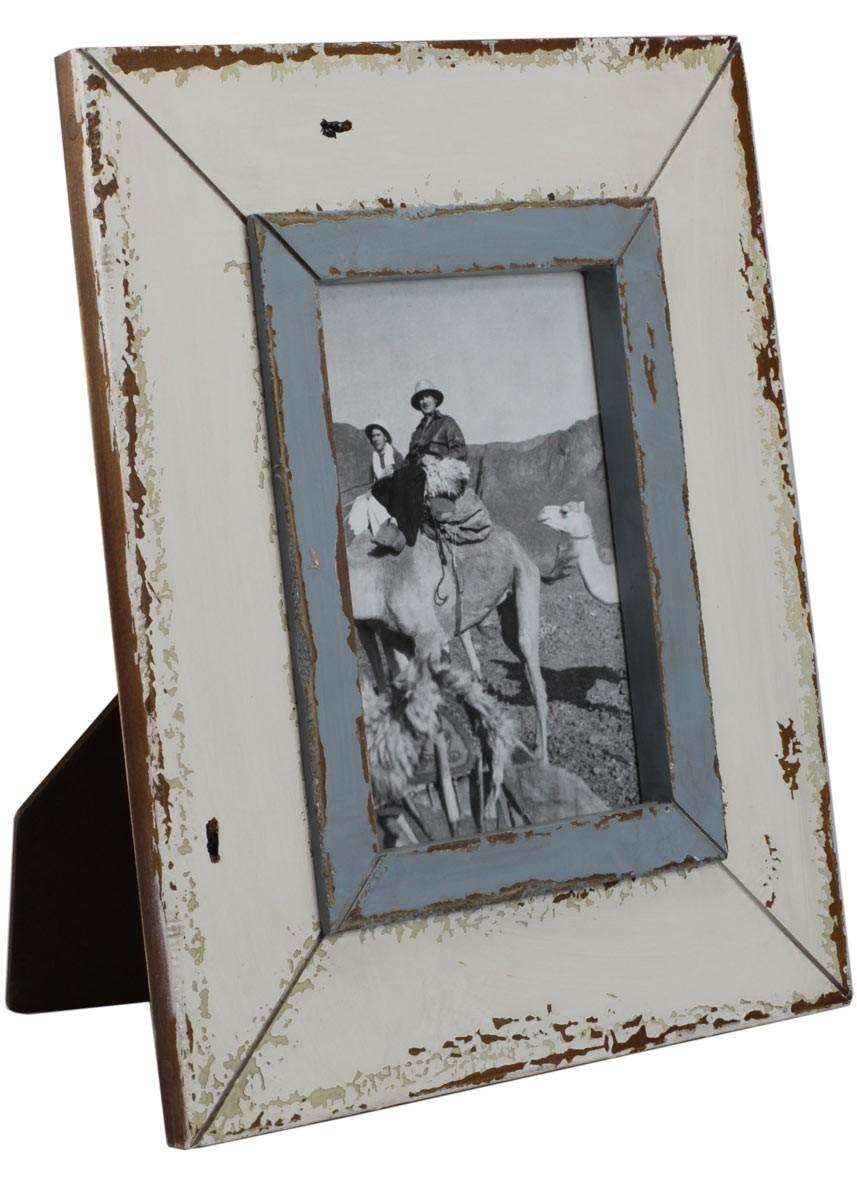 bilderrahmen wei blau shabby vintage fotorahmen holz 25x30