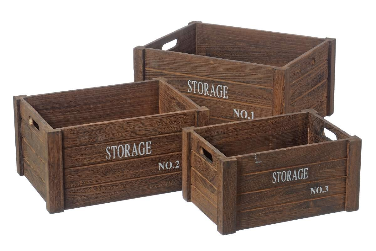 holzkiste storage aufbewahrungsbox shabby vintage kiste antik braun. Black Bedroom Furniture Sets. Home Design Ideas