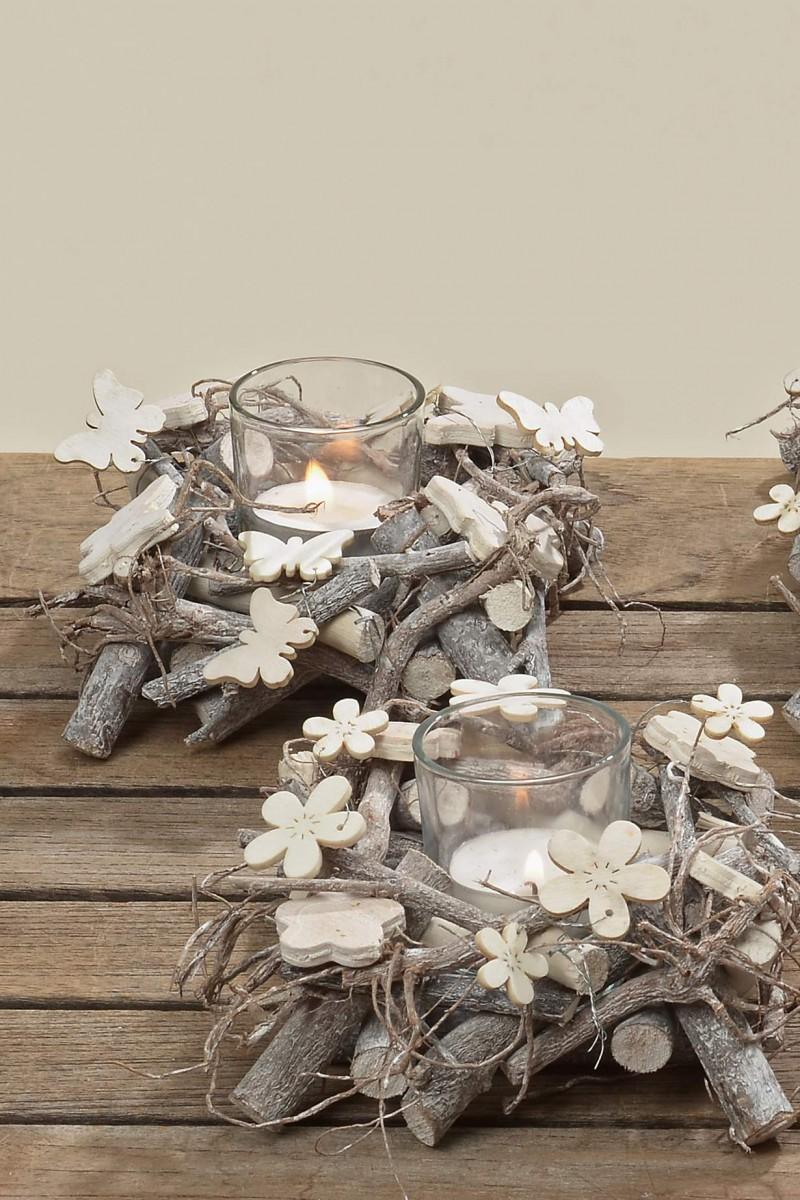 windlicht teelicht vase dekoglas tischdeko sort schmetterling blume. Black Bedroom Furniture Sets. Home Design Ideas
