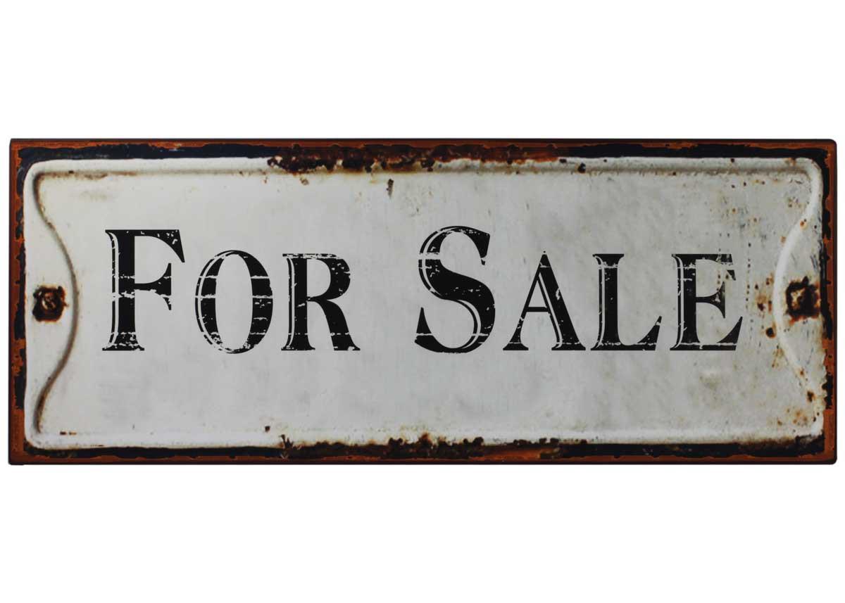 Blechschild for sale shabby vintage schild wandbild for Gartendeko sale