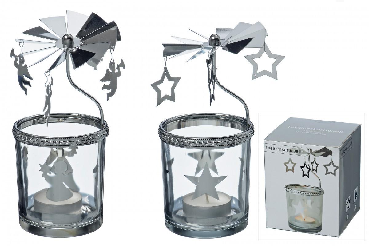 weihnachtlicher teelichthalter stern u engel teelichtglas windlicht 2er set. Black Bedroom Furniture Sets. Home Design Ideas