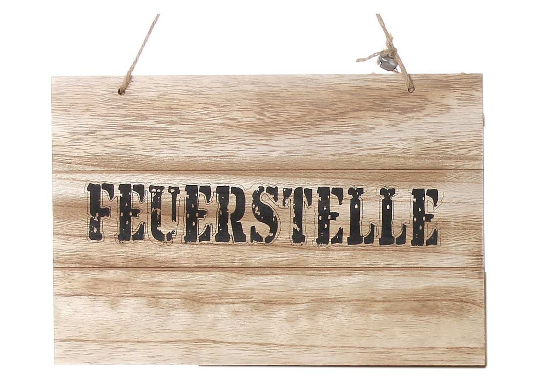 holzschild feuerstelle shabby chic wandbild t rschild. Black Bedroom Furniture Sets. Home Design Ideas
