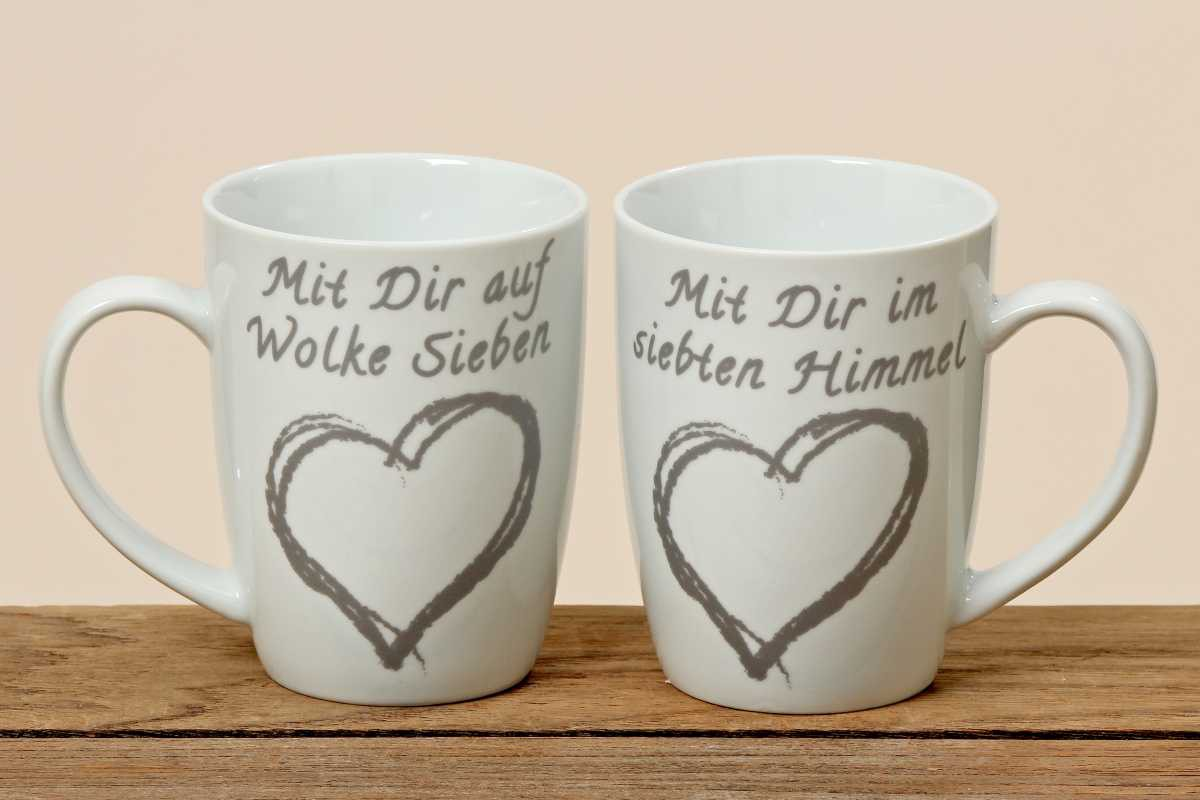 kaffeetasse herz porzellan tasse mit aufdruck becher. Black Bedroom Furniture Sets. Home Design Ideas