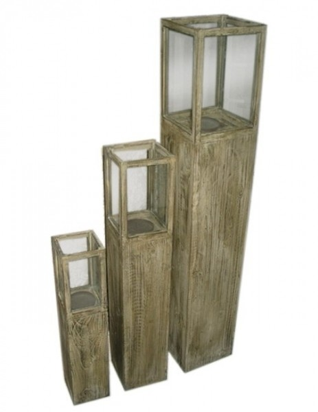 windlicht s ule rustica holz gewachst 3er set windlichts ule braun. Black Bedroom Furniture Sets. Home Design Ideas