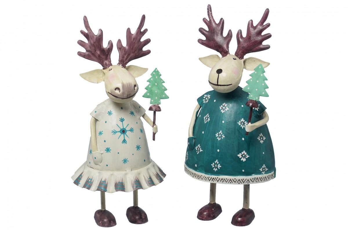 Elch elmo weihnachts deko figur aus metall for Deko versand