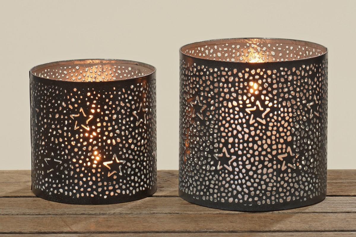 Kerzenhalter Schwarz Metall : metall windlicht sterne teelichthalter kerzenhalter in schwarz ~ Sanjose-hotels-ca.com Haus und Dekorationen