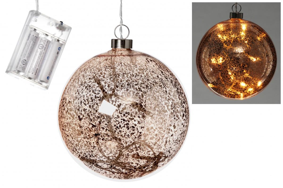 led kugel leuchtkugel dekoh nger fensterh nger aus glas. Black Bedroom Furniture Sets. Home Design Ideas