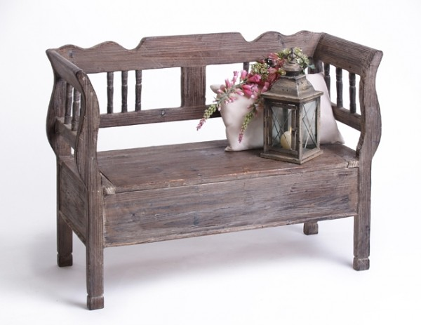 holzbank rustica gewachst shabby chic. Black Bedroom Furniture Sets. Home Design Ideas