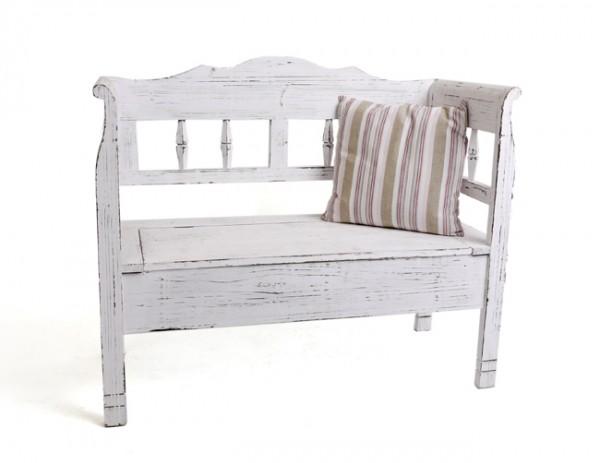 bank romantic landhaus dekobank shabby wei. Black Bedroom Furniture Sets. Home Design Ideas