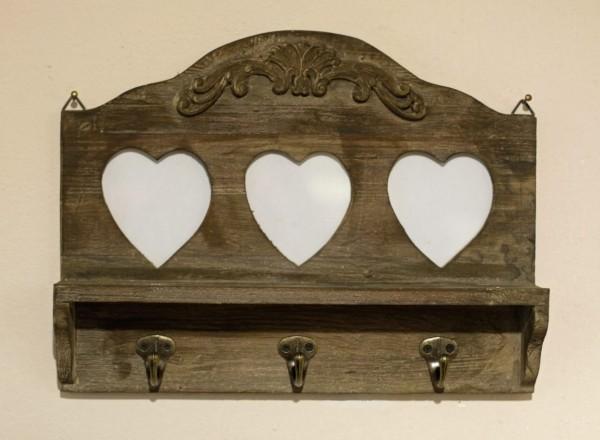 hakenleiste rustica mit fotorahmen wandhaken landhaus antik. Black Bedroom Furniture Sets. Home Design Ideas
