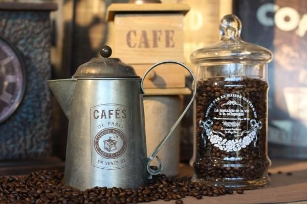 Vintage kaffeekanne cafes de paris aus blech for Gartendeko blech