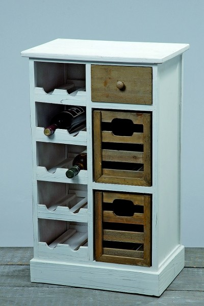 weinregal flaschenregal holz wei schrank landhaus regal holz. Black Bedroom Furniture Sets. Home Design Ideas