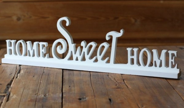 aufsteller schriftzug home sweet home wei shabby landhaus. Black Bedroom Furniture Sets. Home Design Ideas